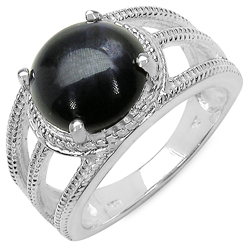 3.65CTW Genuine Iolite .925 Sterling Silver Ring