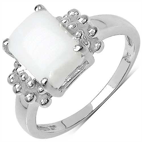 1.25CTW Genuine Opal .925 Sterling Silver  Ring